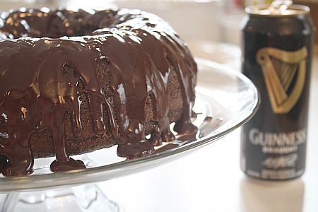 Chocolate Stout Cake with Ganache Glaze | I Was Born To Cook